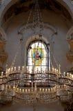 Dentro de una iglesia histórica y famosa en Praga imágenes de archivo libres de regalías