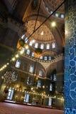 Dentro de una mezquita Foto de archivo libre de regalías