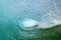 Dentro de una onda de océano del aislante de tubo Imagen de archivo