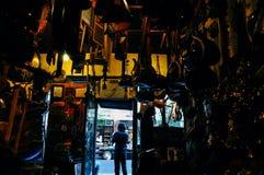 Dentro de una tienda de la música del vintage en Greenwich Village Imágenes de archivo libres de regalías