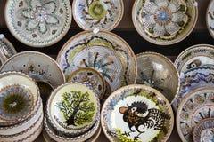 Dentro de una tienda en Horezu Imagen de archivo libre de regalías