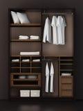 Dentro del armario moderno stock de ilustración