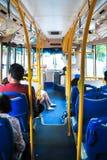 Dentro del autobús en la ciudad de Penang Fotos de archivo libres de regalías