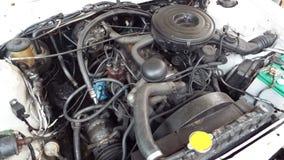 Dentro del coche viejo del motor Fotografía de archivo