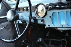 Dentro del coche del vintage Foto de archivo libre de regalías