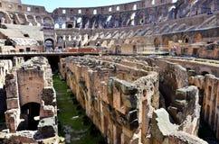 Dentro del Colosseum de Roma fotografía de archivo libre de regalías