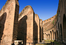 Dentro del Colosseum en Roma Fotografía de archivo libre de regalías