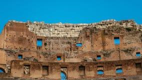 Dentro del colosseum en Roma foto de archivo libre de regalías