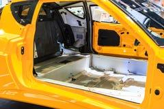 Dentro del cuerpo de un coche Fotografía de archivo