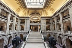 Dentro del edificio legislativo de Manitoba en Winnipeg Imagen de archivo libre de regalías