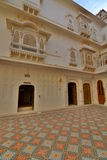 Dentro del fuerte de Junagarh Bikaner Rajasthán La India Foto de archivo libre de regalías