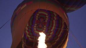 Dentro del globo del aire caliente almacen de video