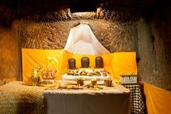 Dentro del Goa Gajah Fotografía de archivo