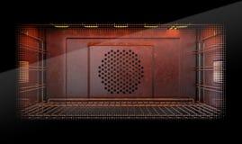Dentro del horno ilustración del vector