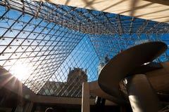 Dentro del Louvre, París Foto de archivo libre de regalías
