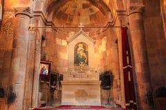 Dentro del monastero di Noravank Fotografia Stock