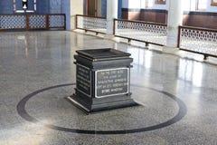 Dentro del monumento de Mahatma Gandhi, Kanyakumari Imagen de archivo libre de regalías