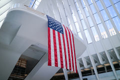 Dentro del monumento nacional del 11 de septiembre Foto de archivo