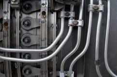 Dentro del motore a turbina del getto Fotografie Stock Libere da Diritti