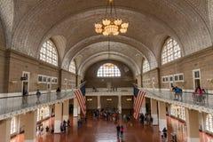 Dentro del museo de la inmigración en Ellis Island Imagenes de archivo