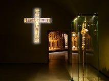 Dentro del museo del Duomo de Milán fotos de archivo libres de regalías
