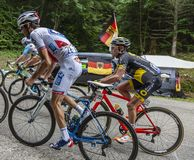 Dentro del Peloton - Tour de France 2017 foto de archivo libre de regalías