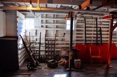 Dentro del S S Sternwheeler del Keno en Dawson City, el Yukón foto de archivo libre de regalías