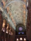 Dentro del santo Anne de Beaupre Basilica fotografía de archivo libre de regalías