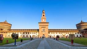 Dentro del Sforza Castel en Milán, Italia Fotografía de archivo libre de regalías
