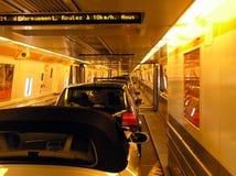 Dentro del túnel del Canal de la Mancha Imagen de archivo libre de regalías