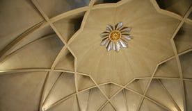 Dentro del templo del loto, Delhi imagen de archivo