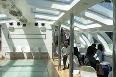 Dentro del transbordador en Tokio Imagen de archivo libre de regalías
