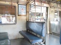 Dentro del tren local de Bombay Fotos de archivo