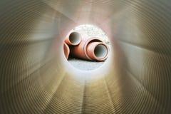 Dentro del tubo de la plomería Fotos de archivo