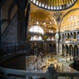 Dentro della basilica antica Hagia Sophia Fotografia Stock