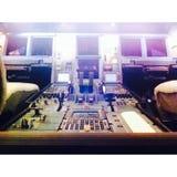 Dentro della cabina di pilotaggio della cabina immagini stock