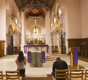 Dentro della cappella Carmelitana a Oakville Immagini Stock