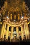 Dentro della cattedrale di Malaga, l'Andalusia, Spagna Immagine Stock Libera da Diritti