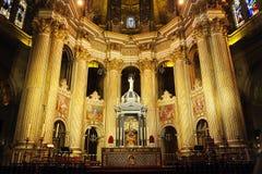Dentro della cattedrale di Malaga, l'Andalusia, Spagna Fotografia Stock Libera da Diritti