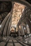 Dentro della cattedrale di Siviglia fotografie stock libere da diritti