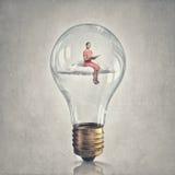 Dentro della lampadina di idea Fotografia Stock Libera da Diritti