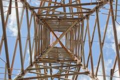 Dentro della linea elettrica di elettricità Immagini Stock