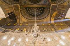 Dentro della moschea di Muhammad Ali, Saladin Citadel di Il Cairo immagine stock libera da diritti