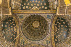 Dentro della moschea di Muhammad Ali, Saladin Citadel di Il Cairo fotografie stock libere da diritti