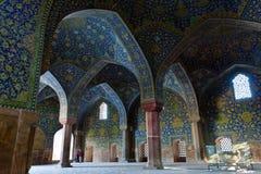 Dentro della moschea in Esvahan Fotografia Stock Libera da Diritti