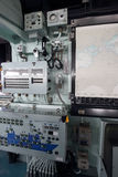 Dentro della nave da guerra Fotografia Stock