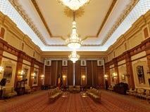 Dentro della sede del parlamento a Bucarest, la Romania Fotografia Stock