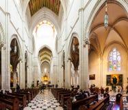 Dentro di Almudena Cathedral a Madrid, la Spagna Fotografia Stock Libera da Diritti