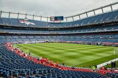 Dentro di Denver Broncos Stadium Fotografie Stock Libere da Diritti