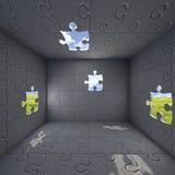 Scatola 2 di puzzle Immagini Stock Libere da Diritti
